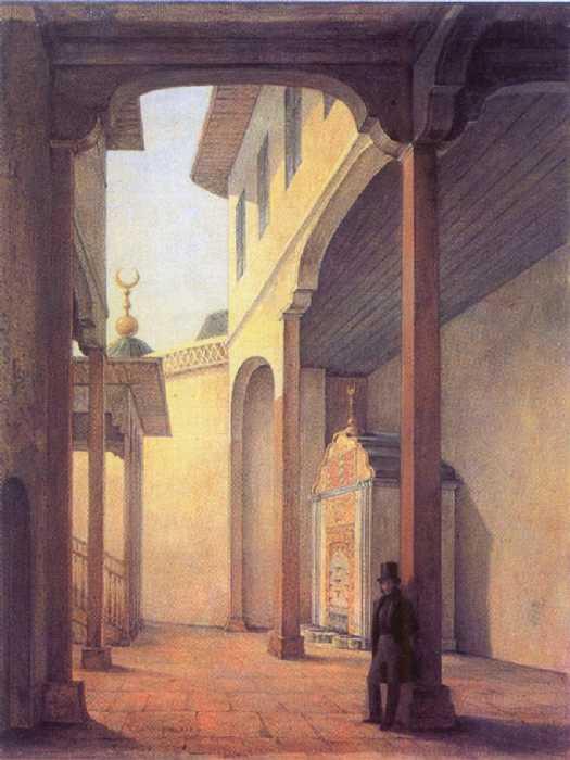 1837._Пушкин_в_Бахчисарайском_дворце