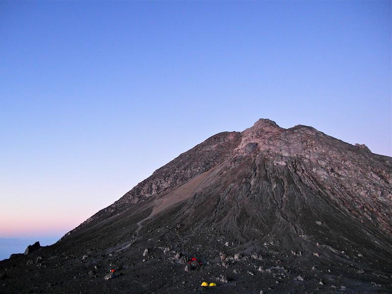 The (actual) summit at Mount Merapi, Jogjakarta