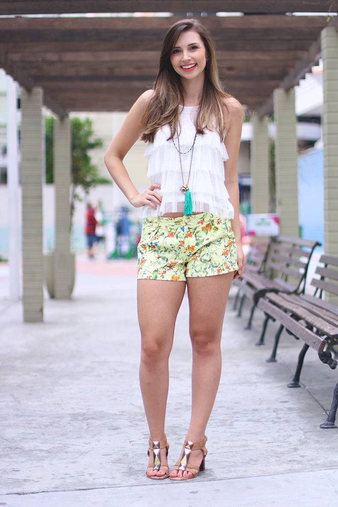 03-look do dia shorts estampado la mandinne blog sempre glamour