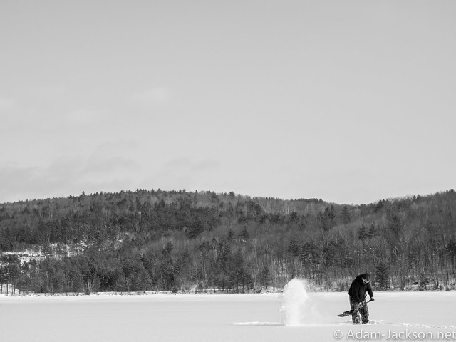 Ice Fishing out on the Lake - February 2015