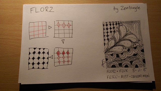8x5 cards for Zentangle Club index card box