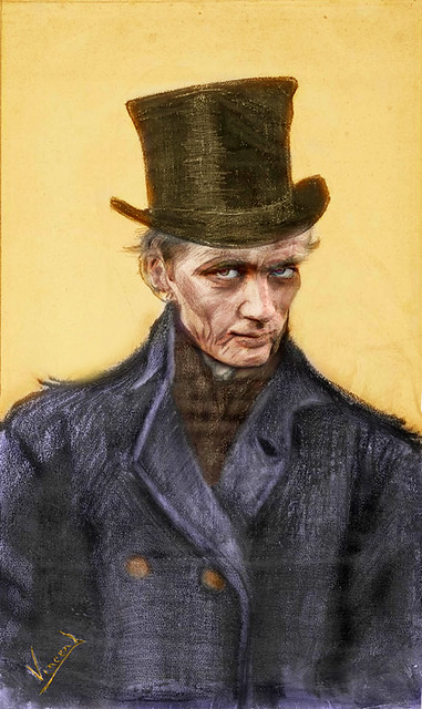 Jimmy Dean as an old man by Vincent