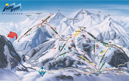 Fieberbrunn - mapa sjezdovek