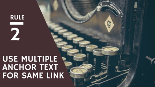 use multiple text for same link