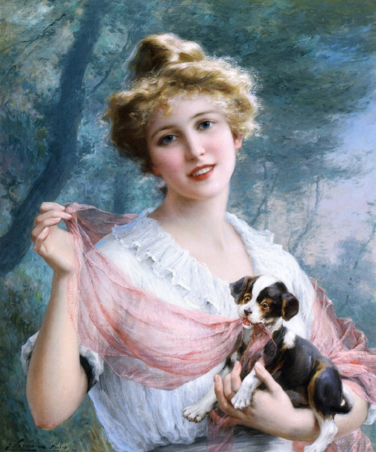 The Mischievous Puppy by Emile Vernon, 1915