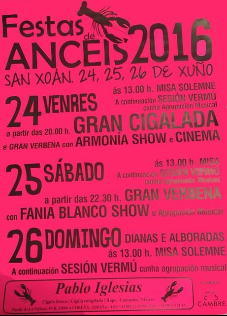 Cambre 2016 - Festas de San Xoán en Anceis - cartel