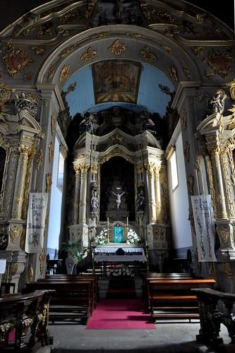 Gouveia (Portugal). Iglesia de San Pedro. Interior. Cabecera