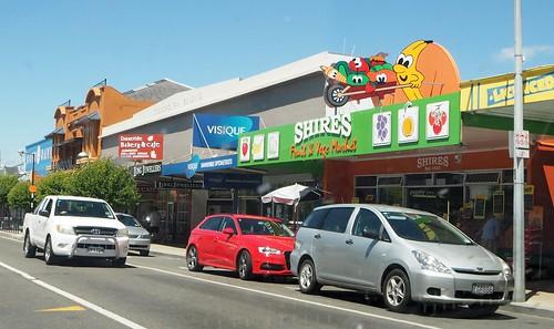 cars sign fruit shops veg dannevirke