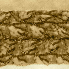 Sepia Toned Hint - bed of roses fill pattern