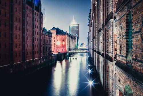 Speicherstadt Hamburg bei Nacht #6307
