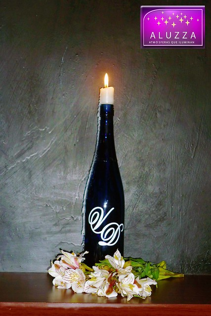 Idea original para decoración de boda o recuerdo ALUZZA