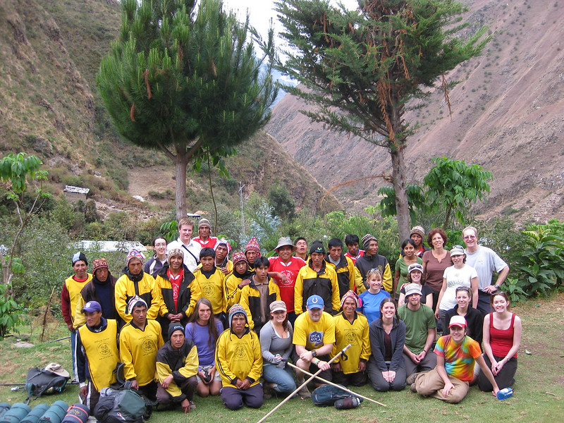 The group (including guides and porters) at the end of our first day's hike.