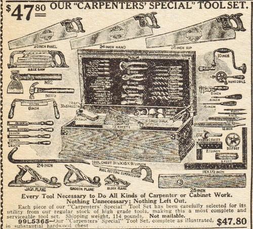 Carpenters' Special Tool Set - (1923)