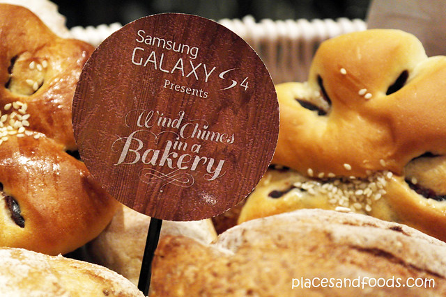 wind chimes in a bakery picture