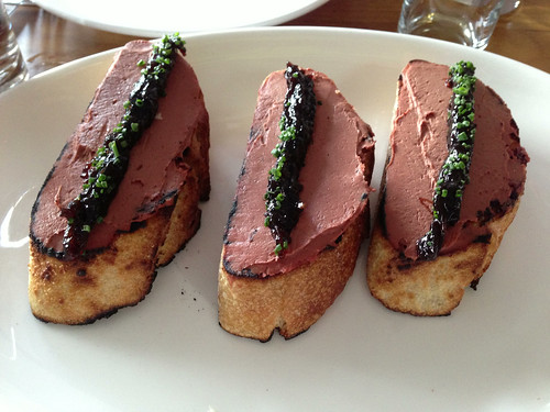 chicken liver toast