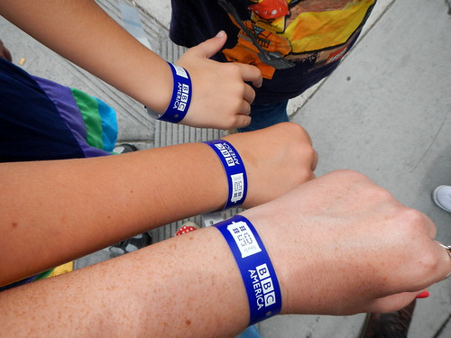we got wristbands!