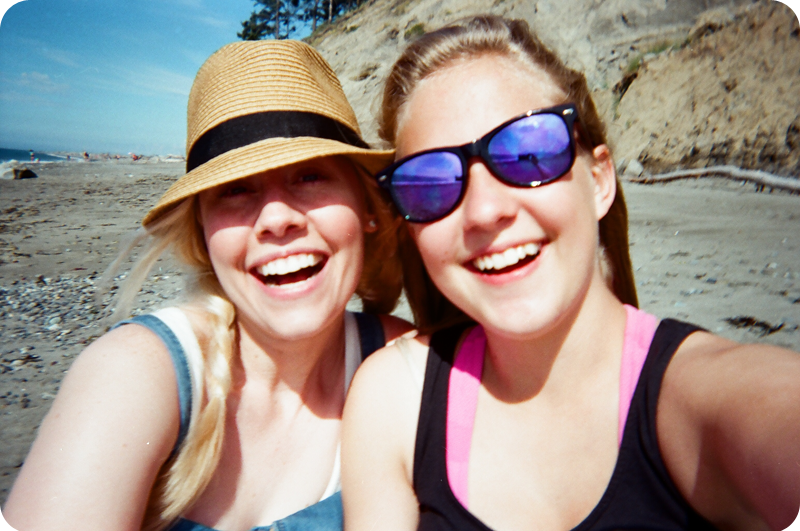 {disposable camera} beach bound | sisters