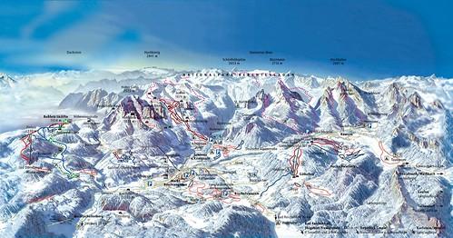 Berchtesgadener Land - mapa sjezdovek