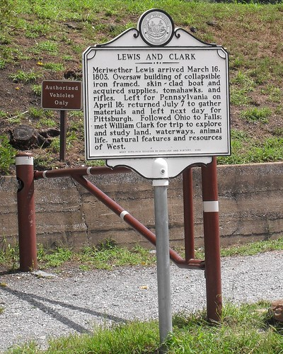 A reminder of Lewis and Clark's visit to Harpers Ferry