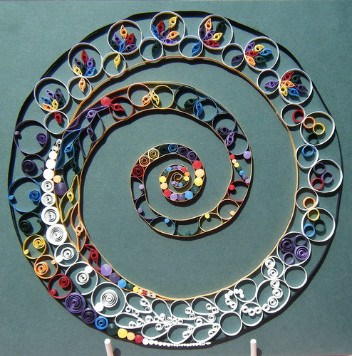 Quilled rainbow spiral by Philippa Reid