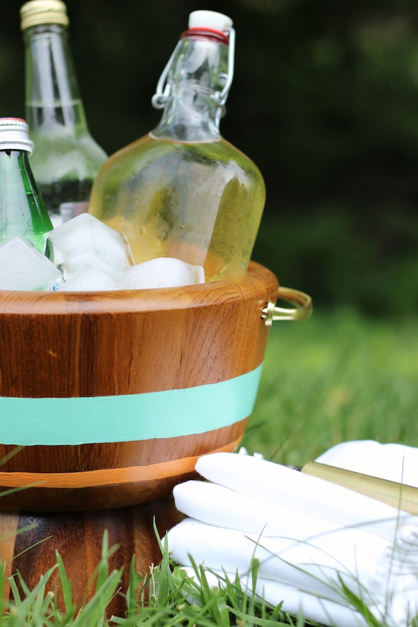 Fabric Paper Glue | DIY Summer Ice Bucket