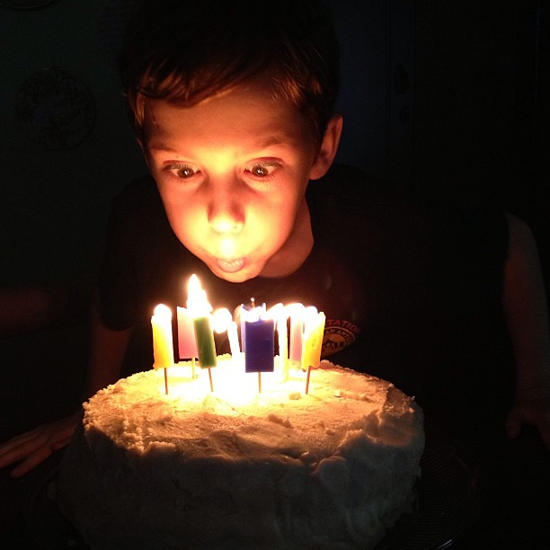 Skyler is turning 10 tomorrow. I became a mama at 19 and couldn't imagine how I'd survive. Now I can't believe how #blessed I've been! Happy #birthday sweet Skyler you're one amazing boy! #cake #candles #nofilter