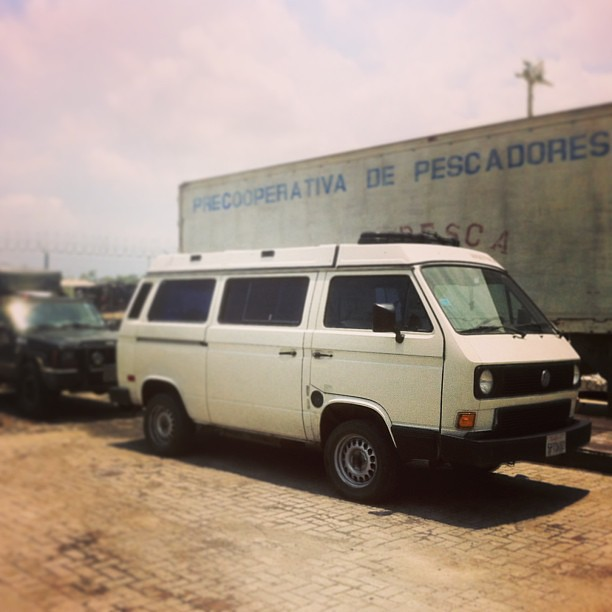 There it is, intact. Waiting until it can be inspected tomorrow and returned to us. #vanlife #vanenvan #vw #vwt3 #cartagena #colombia #vanagon