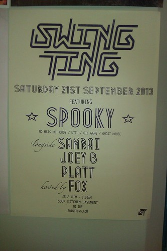 Swing Ting Saturday September 2013 @ Soupkitchen
