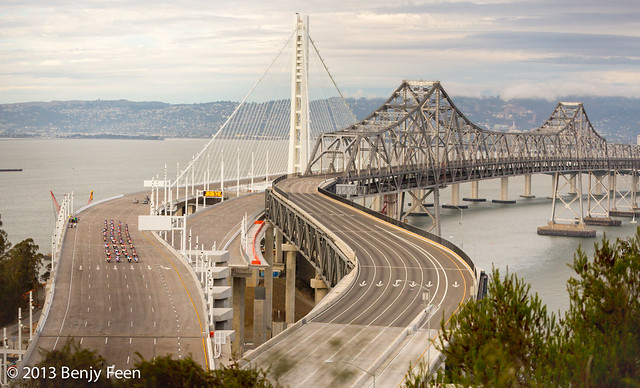 The SF Bay Bridge reopens