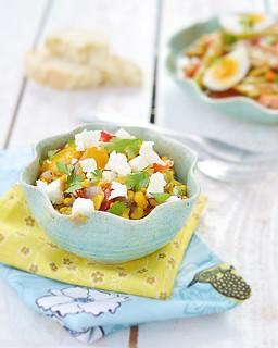 corn salad with feta