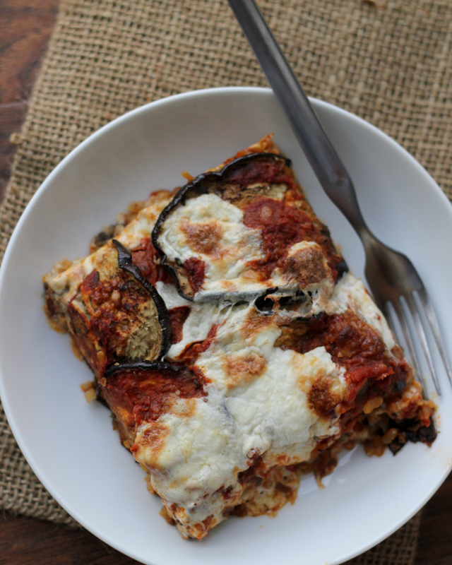 Eggplant, Mozzarella and Saffron Rice Bake | Joanne Eats Well With ...