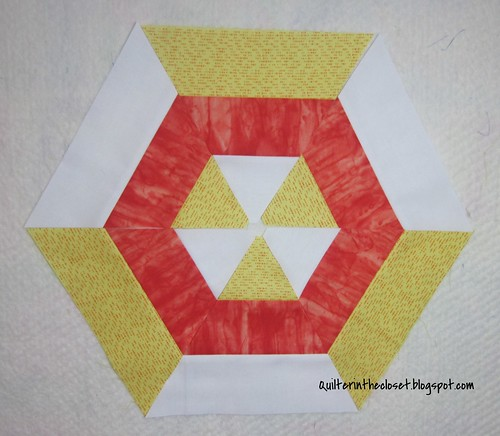 Candy corn hexagon