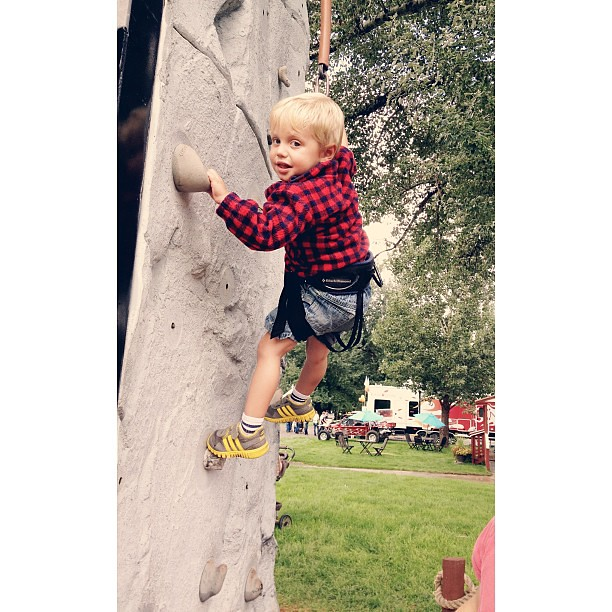 Gentleman repelling at the lavender festival. #ourgentleman #vscocam #afterlight #vscocam_kids