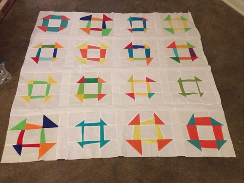Harmony. Quilt Top in Progress