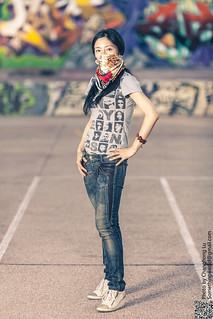 Graffiti y chica guapa 1