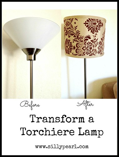 Transform a Torchiere Lamp - The Silly Pearl