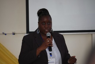 Dr. Djokoto explaining a point during the conference