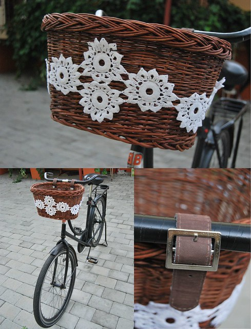 bike with doily