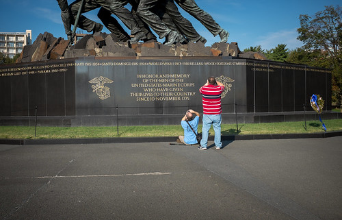 The U.S. Marine Corps War Memorial was a great place to meet and get started on our photo walk.