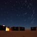 Star Trail in the Sahara Desert