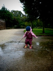 child, puddle,