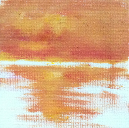 Golden Sunrise (Mini-Painting as of October 13, 2013) by randubnick