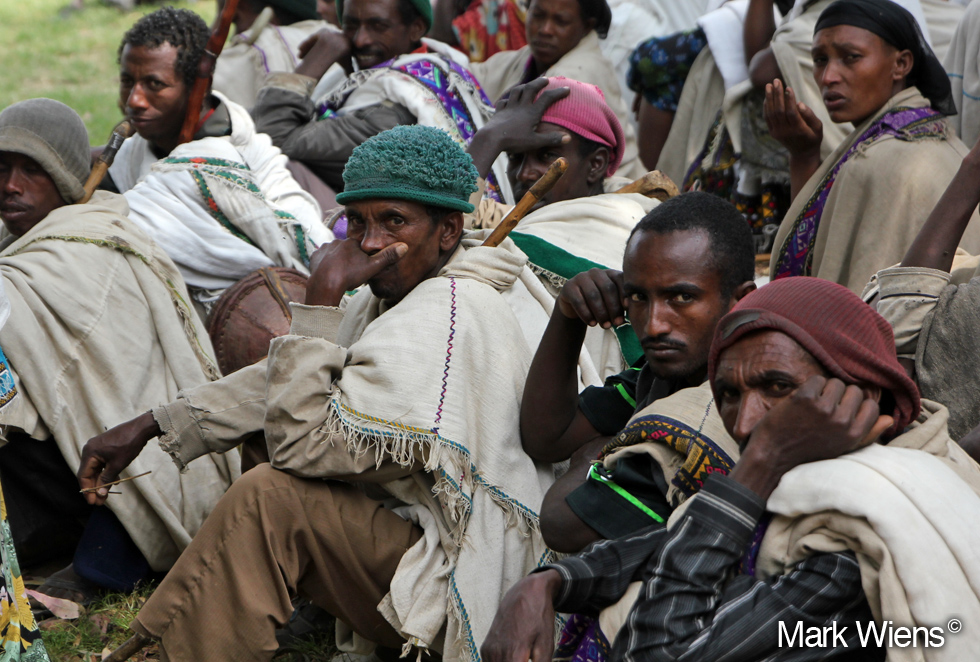 Funeral Attendees in Lalibela