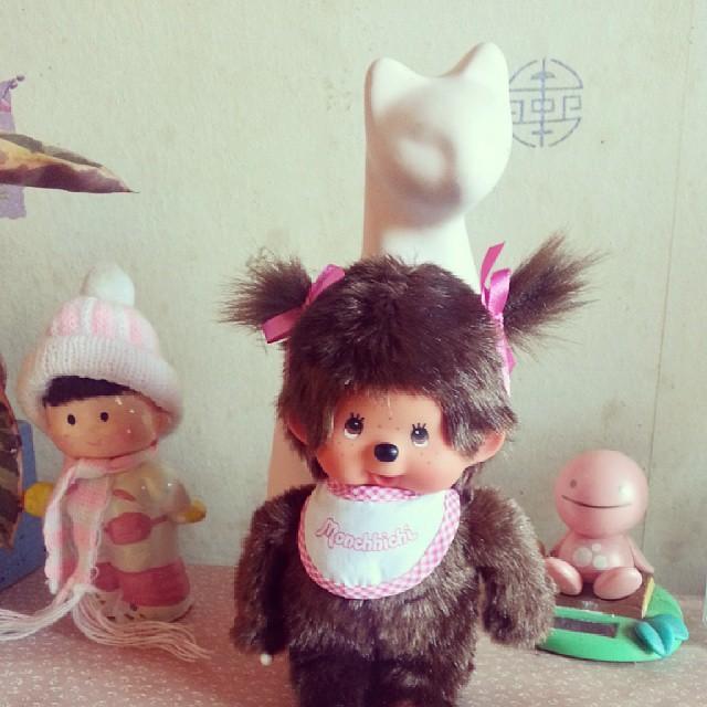 Le premier #kiki fille de néné est à croquer ^^ #monchhichi #blog #blogueuse #ourlittlefamily #france