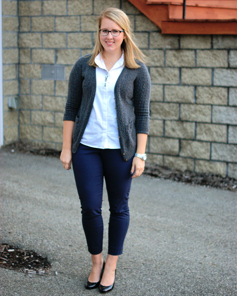 Navy Ankle Pants + Neutrals