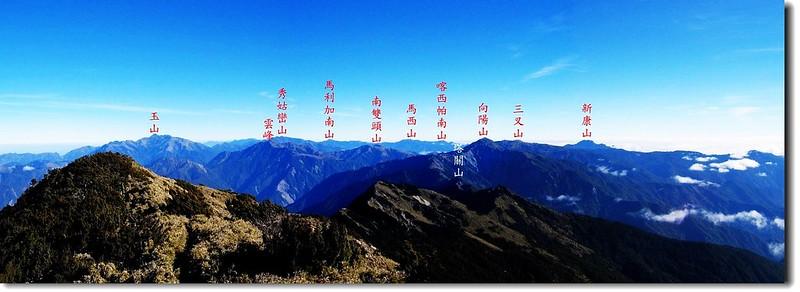 關山頂展望(北至東) 2