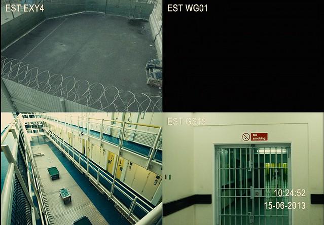 【全面鎖定】監獄監視器畫面 其中一格變黑畫面
