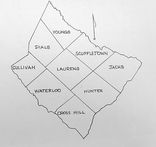 Laurens County Townships