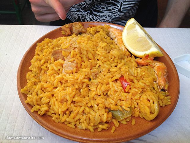 Paella at La Taberna Nerja Spain 2