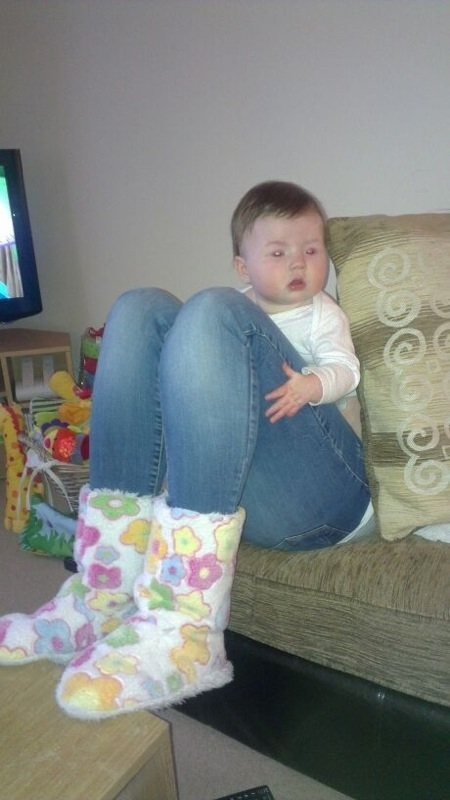 The perfectly timed adult baby picture: